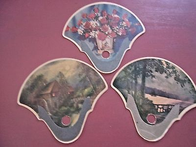 3 Chase KS Vintage Paper Advertising Hand Fans From 40's to 50's  Church fans