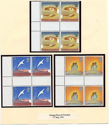 """Stamps. GB. Gutter Pairs """"EUROPA-PEACE & FREEDOM"""""""