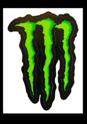 """Monster Energy Drink """"""""large"""""""" 6"""" Green Claw Sticker. Authentic Sticker / Decal"""