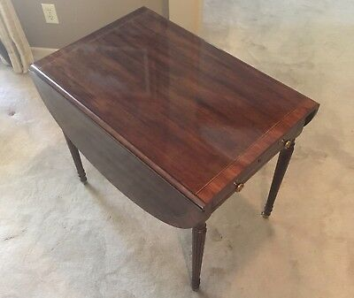 Vintage Henredon Drop Leaf Side Table 395 00 Picclick