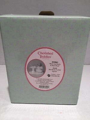 "Cherished Teddies ""jonnie ~ Wash And Brush Bed"" 4038062  New"