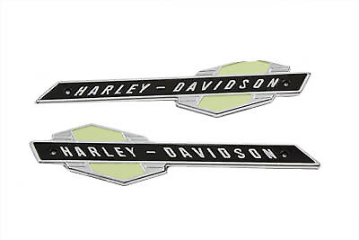 Emblem Set with Silver Lettering for Harley 1963-1965 Model Panhead Gas Tanks