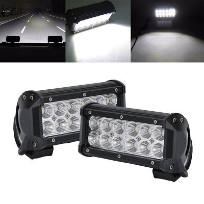 2x 7INCH 36W CREE Led Work Light Bar Flood Driving Fog Offroad   Truck A7 SUV