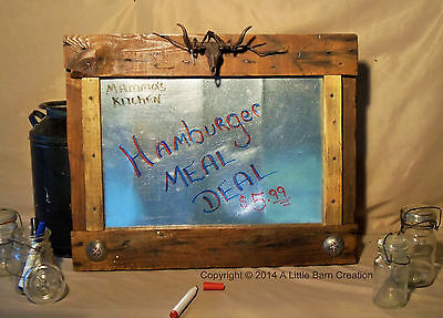 Menu Sign/Sign/Wall art/Rustic western/hand crafted/reclaimed wood/nature