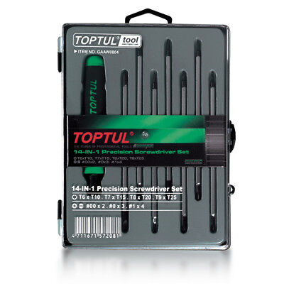 Toptul 14 in 1 Dual Size Interchangeable Screwdriver Set GAAW0804