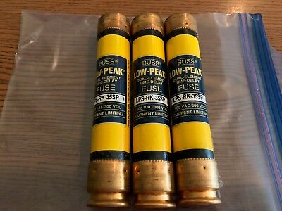 (3) New! Bussmann Low-Peak Dual Element Time Delay Cur Lim Fuses Lps-Rk-35Sp