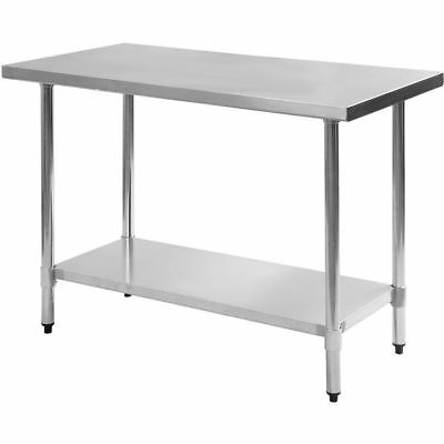 "Stainless Steel Work Prep Table 24"" x 30"" New"