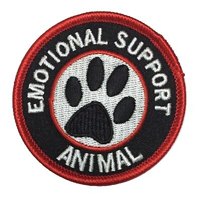 Emotional Support Animal iron-on patch for a dog, cat or other animal
