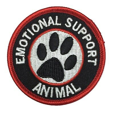 Emotional Support Animal iron-on patch for dog, cat or animal, optional 10x pack