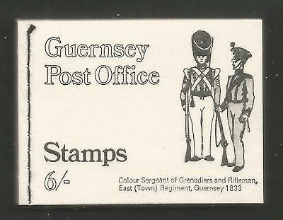 Guernsey 1970 6 shilling complete definitive booklet (13a, 14a, 28a) MNH