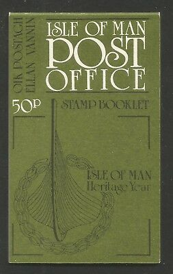 Isle of Man 1986 Manx Heritage 50p complete booklet (190a, 313a) MNH