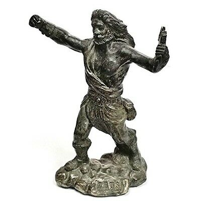 Zeus Statue King of the Gods Greek Mythology Statues Mythical Stone Age 5 Inches