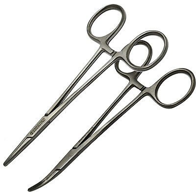 Surgimax Mosquito Round Straight Artery Hemostatic Clamp Locking Tweezer Forceps