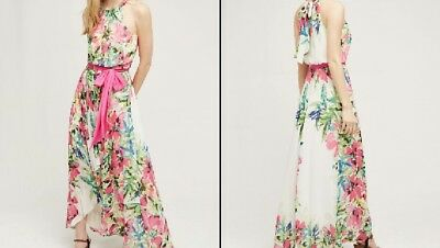 Anthropologie Chiara Maxi High Low Dress by Eliza J  Size 6  Multicolor  $178
