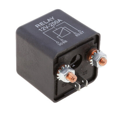 12V Heavy Duty Split Charge/Winch 200A Relay - Car Van Boat - 200 Amp -4 Pin
