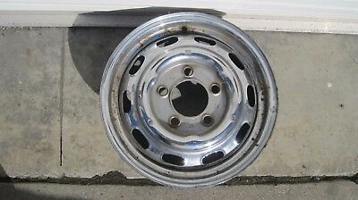"Original KPZ Factory Porsche 911-912 CHROME 4 1/2"" X 15"" STEEL WHEEL DATE 3/1964"