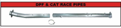 "Flo Pro 4"" DPF CAT Delete Race Pipes No Bungs 11-16 Ford 6.7L Powerstroke 857NB"