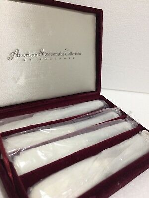 American Silversmiths Collection Silverplate Spreader Knives Floral By Godinger