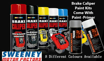 Deco Color Brake Caliper Kit 2 Piece Primer Spray And Paint Spray 8 Colors