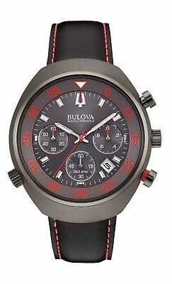 Bulova Accutron II Men's 98B252 UHF Lobster Chronograph Red Accents 45mm Watch