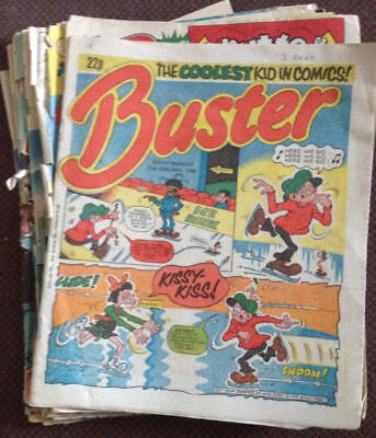BUSTER COMIC JOB LOT x 26 comics  (1982, 1983, 1985, 1986, 1987, 1988, 1989)