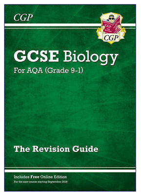 New Grade 9-1 Gcse Biology: Aqa Revision Guide With Online Edition, Paperback...
