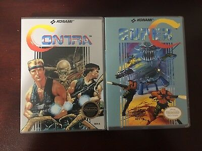 Contra 1 And Super C (contra 2) Empty Replacement Case. NES Game Casement