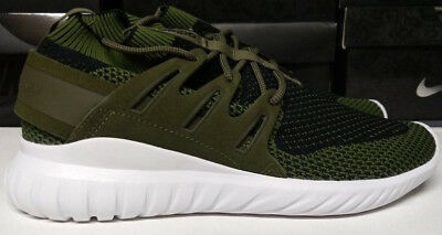 timeless design 505d1 17a44 ADIDAS TUBULAR NOVA PK Size 9 Prime Knit Olive Green Black White Shoe S80111