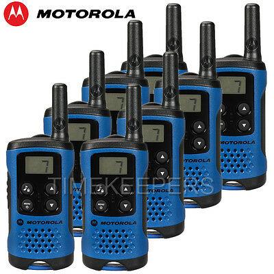 4Km Motorola TLKR T41 Walkie Talkie 2 Two Way PMR 446 Compact Radio Set Eight