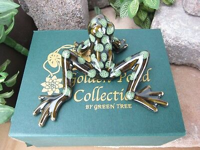 Golden Pond Collection - Ceramic frogs/ Handmade craft/ Perfect gift/ Fine art