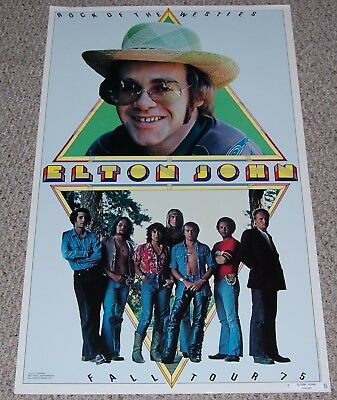 ELTON JOHN Rock Of The Westies Fall Tour '75 Poster 1974 Delta