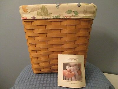 2003 Longaberger Tall Key Basket with Liner