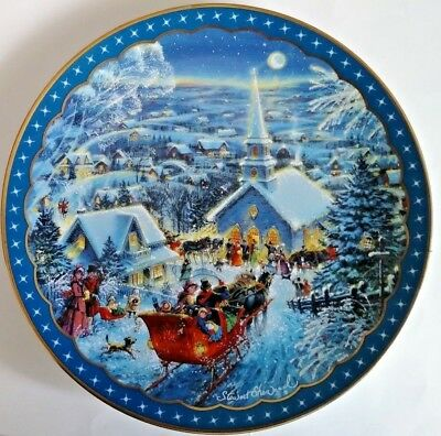 "1992 ""Joy To The World"" Heartfelt Traditions Stewart Sherwood Christmas Plate"
