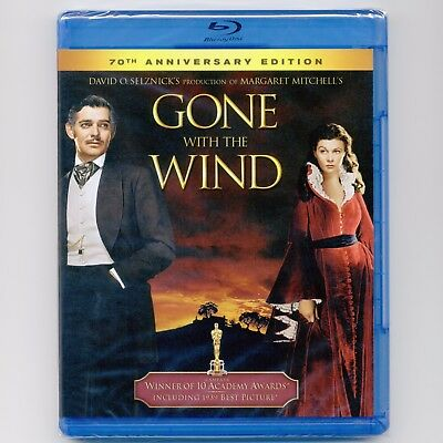 Gone With the Wind 1939 G restored epic movie, 70th Anniversary Ed. new Blu-ray