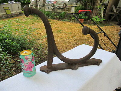 Large Antique Cast Iron Farm Barn Tack Hook J L Mott Iron Works New York