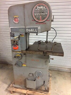 "doall metal cutting vertical band saw 16"" variable speed blade welder band filer"
