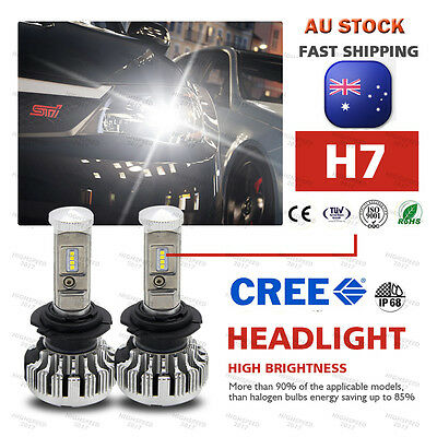H7 CREE 268W 26800LM LED Headlight Kit Single Beam Bulb White 6000K  AU STOCK