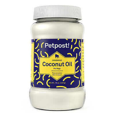 Petpost   Organic Coconut Oil for Dogs - Extra Virgin for Skin & Coat