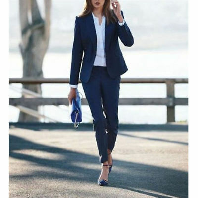 New Navy Women Ladies Business Office Tuxedos Work Wear Female Suits Custom Mad