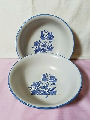 "Pfaltzgraff Dishes Yorktowne 2014 Set Of 2 Soup Or Salad Bowls, 6.65"" X 2.25"""