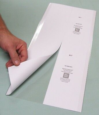 """25 pack 9 1/2""""H x 20""""W Brodart Fold-on Book Jacket Covers, Lo-Luster Mylar"""