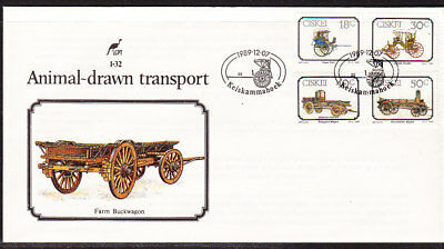 Ciskei 1989 Animals Drawn Transport  First Day Cover 1.32