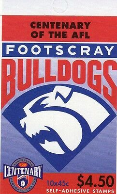 1996 AUSTRALIAN STAMP BOOKLET AFL CENTENARY FOOTSCRAY 10 x 45c STAMPS MUH