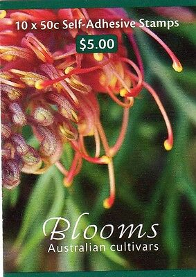 2003 AUSTRALIAN BLOOMS - CULTIVARS STAMP BOOKLET 10 x 50c STAMPS MUH