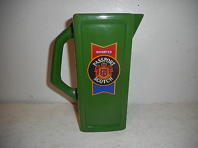 Imported Passport Scotch Whisky Advertising  Pitcher