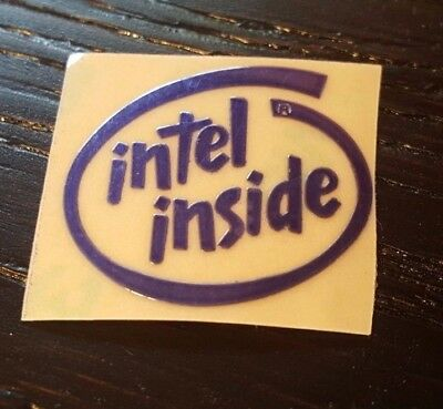Metal Blue Intel Inside Logo Sticker/Badge 30mmx25mm