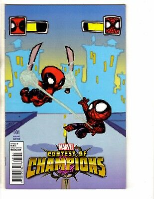 Marvel Contest Of Champions # 1 NM 1st Print Variant Cover Comic Deadpool MK1