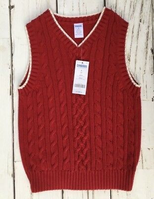 NWT Boys Gymboree Red Sweater Vest Chunky Knit Holiday Christmas Party Sz 6