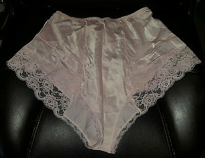 New VTG 70's Halston III M Lace Pink Panties Silky Satin Sissy Sexy Underwear