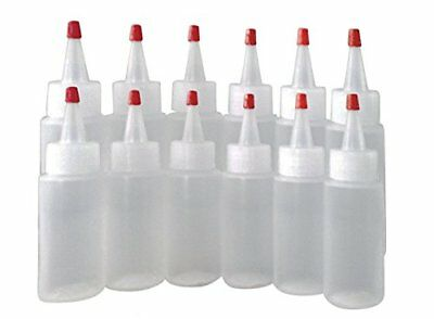 2 oz (60 ml) HDPE Plastic Bottles w/Yorker Dispensing Caps (Lot of 100)